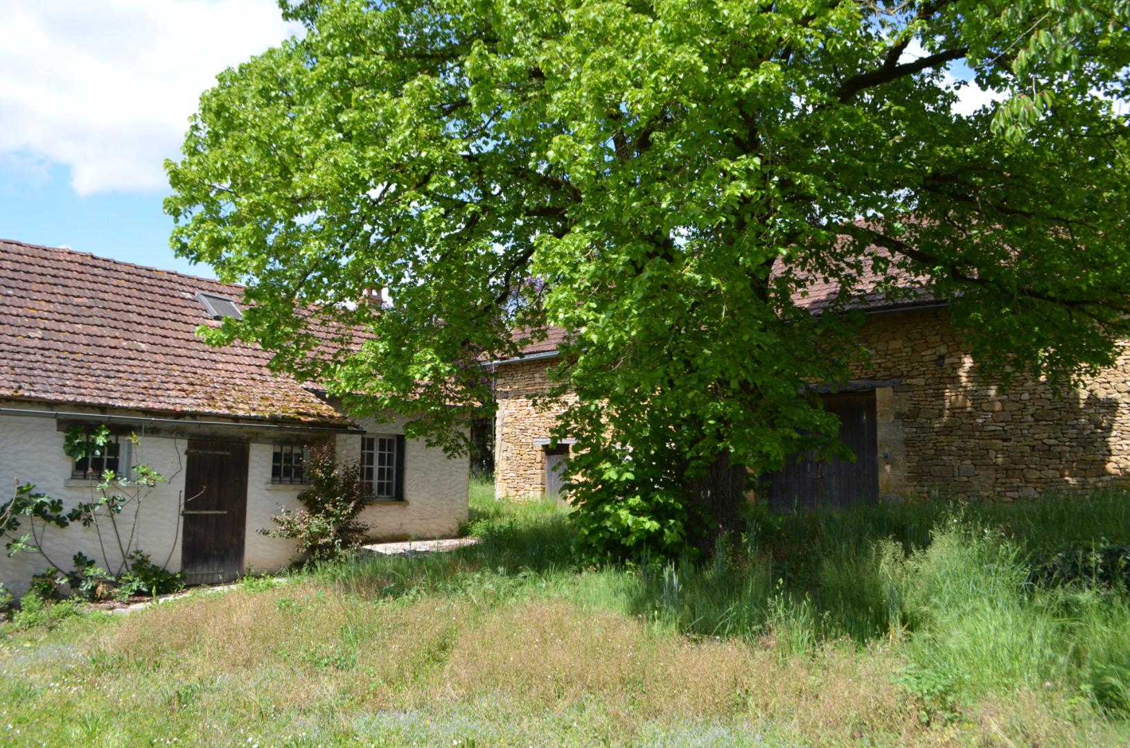 Périgord Noir, à 3 km de Montignac-Lascaux, Fermette à rénover entièrement comprenant une ancienne maison et une grande grange. Terrain de plus de 5000 m².
